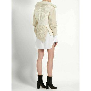 BURBERRY Shearling Wool Cashmere CableKnit Sweater
